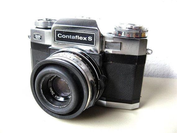 Zeiss Ikon Contaflex S  Vintage SLR Camera by Lunartics on Etsy, €180.00