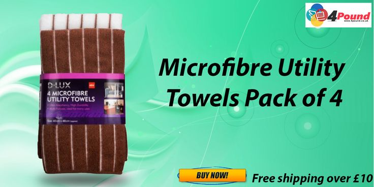 Buy Microfibre Utility Towels Pack Of 4 Only at Low Price
