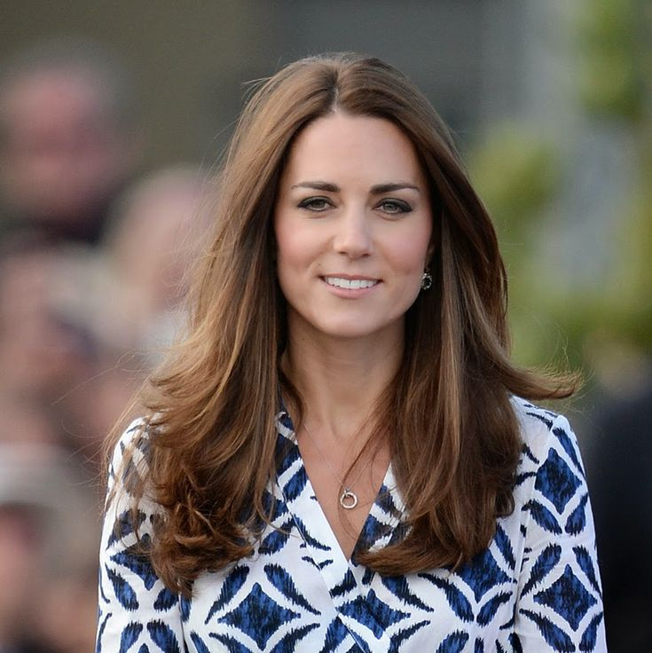 """she reverted to the classic """"Kate Middleton loose"""" for today. I still love it. When she has it beautifully blown out, as it has been today, it is hard to beat."""
