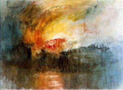 J.-M.-W. Turner « L'incendie de la Chambre des Lords à Londres ...