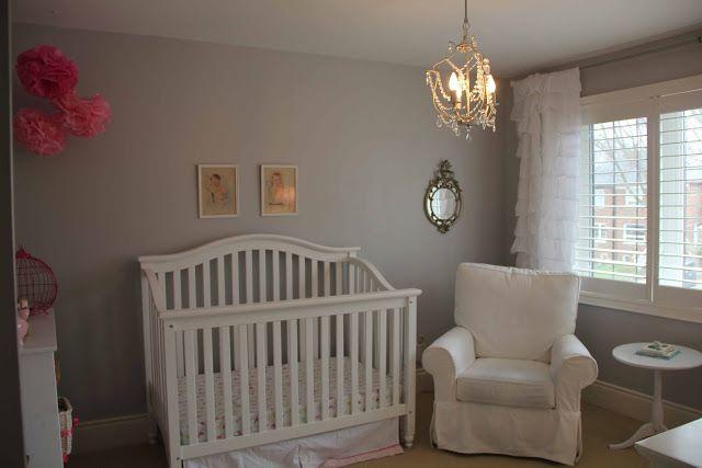 Gray Walled Nursery Sherwin Williams Zircon