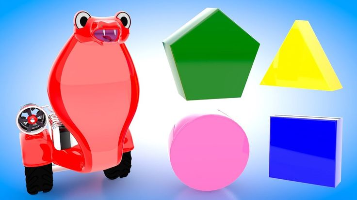 Shapes for Kids to Learn with Toy Snake | Kids Learning Shapes and Color...