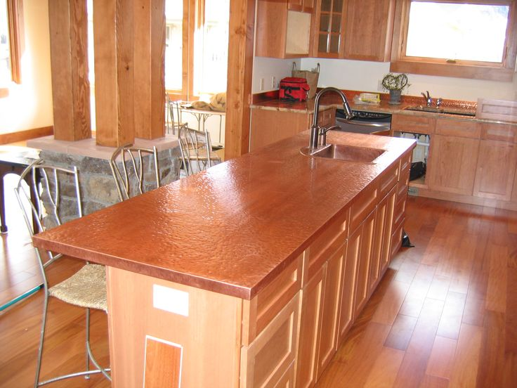 Perfect Kitchen Island With Copper Counter Top   Copper Counter Tops. See More.  With So Many Choices Of Materials, Colors, Textures And Edges It Can Be A