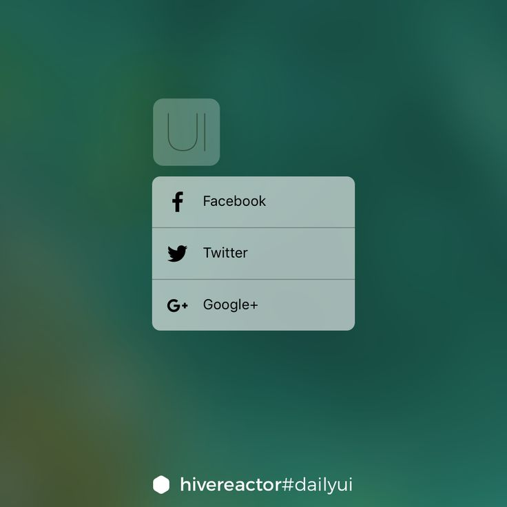 #DailyUI #010. 3D Touch-like social share. #design #ux