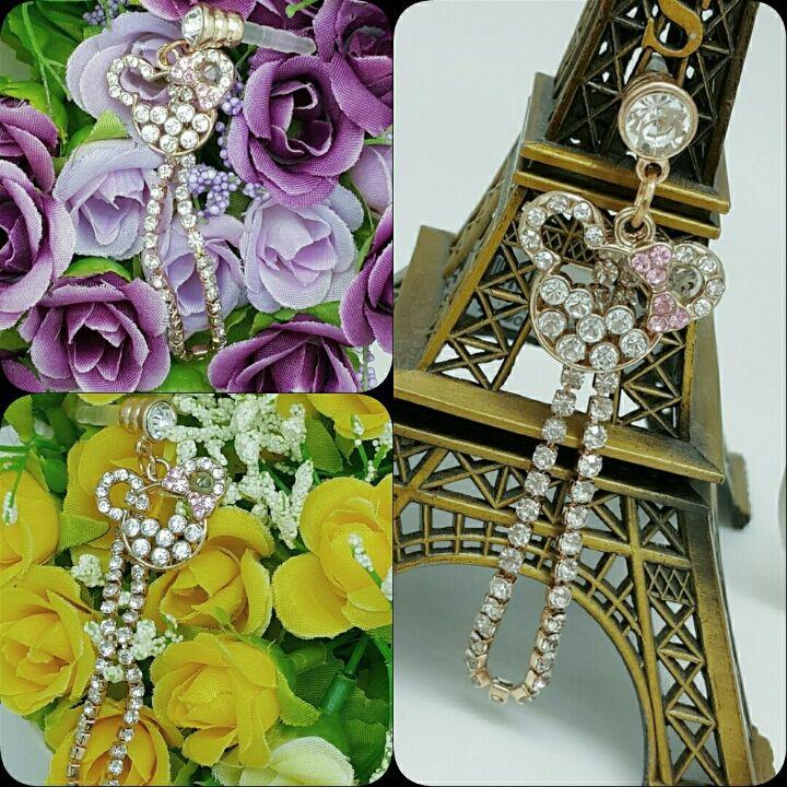 Koleksi Jewelry Pluggy (Stok Terbatas) :  Kode : AWS-193, Nama : Minnie Bow Swarvoski Chain Pluggy, Price : IDR 50