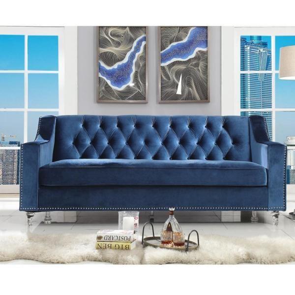 inspired home olivia hunter green velvet sofa with silver