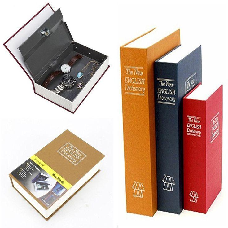 Metal Steel Cash Secure Hidden English Dictionary Money Caja Almacenamiento de monedas Libros Secret Secret Piggy Bank