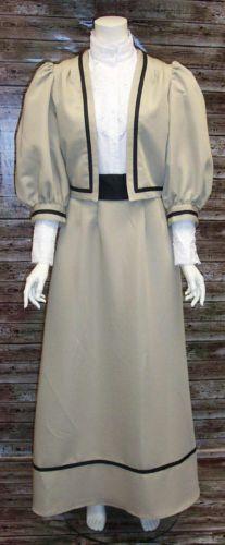Victorian Costume Dresses & Skirts for Sale Edwardian Jacket Skirt Ensemble Dickens Steampunk  $97.95 AT vintagedancer.com