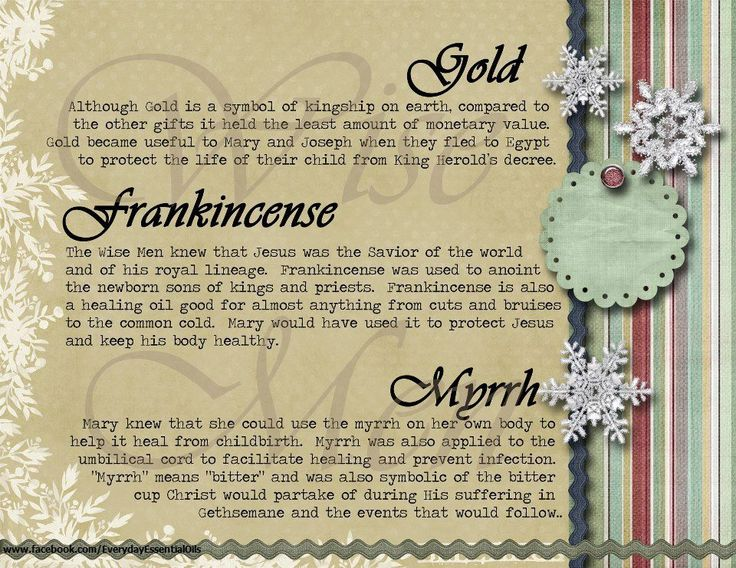 Gold, Frankincense and Myrrh gift card