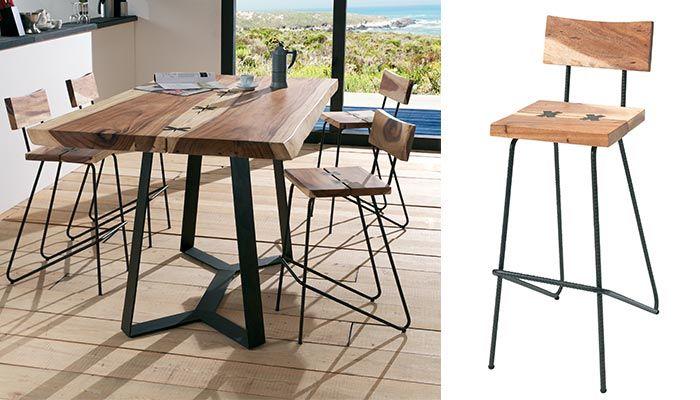 amazing excellent table haute kupu cocktail scandinave uac chaise haute uac bois de suar massif. Black Bedroom Furniture Sets. Home Design Ideas