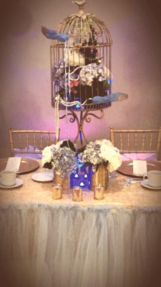 cinderellthemed wedding scroll invitations%0A Cinderella centerpiece for my daughter u    s Sweet