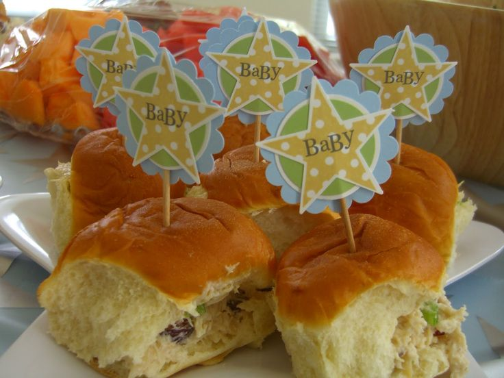 Homemade Baby Shower Decorations | Homemade Chicken Salad, Yum!)