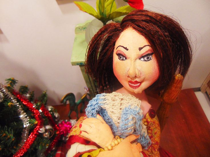 Painted Cloth Doll...Esperanza from Life of The Dolls comic series.