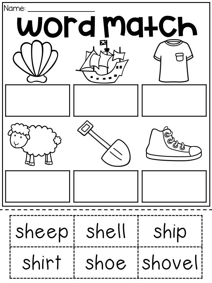 Sh Digraph Worksheet For First Grade And Second Grade Students Match The Sh Words To The Digraphs Worksheets Phonics Kindergarten English Worksheets For Kids