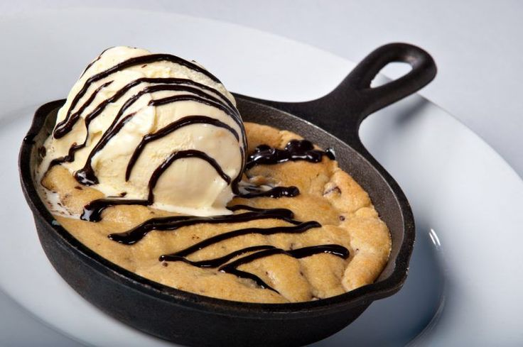 """""""Here is our pizza hut copycat cookie recipe cooked in a skillet."""""""