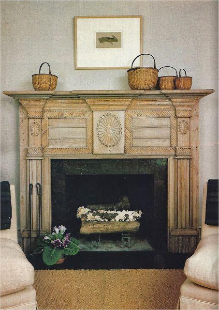 Tone on Tone: Antique Mantels Hearth belongs to designer Nancy Braithwaithe