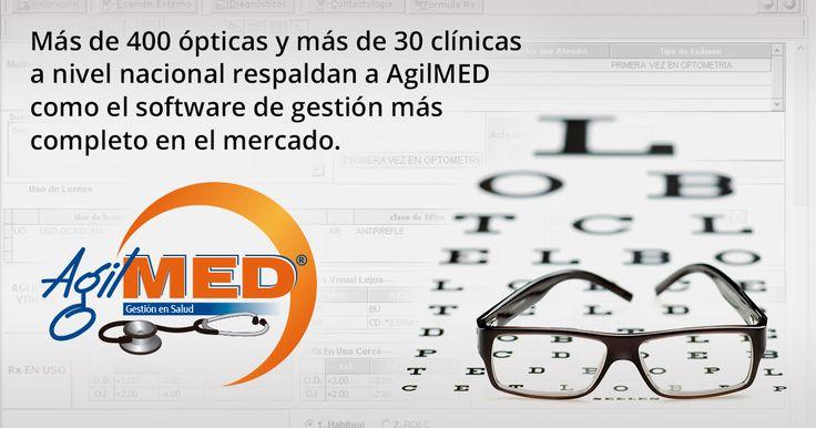 Administre todos los procesos de gestión con AgilMED, el software para ópticas y clínicas más completo del mercado - Un producto Sydicol | #AgilMED #Software #Opticas #Clinicas | http://www.sydicol.com.co/agilmed/software-para-opticas-y-clinicas/