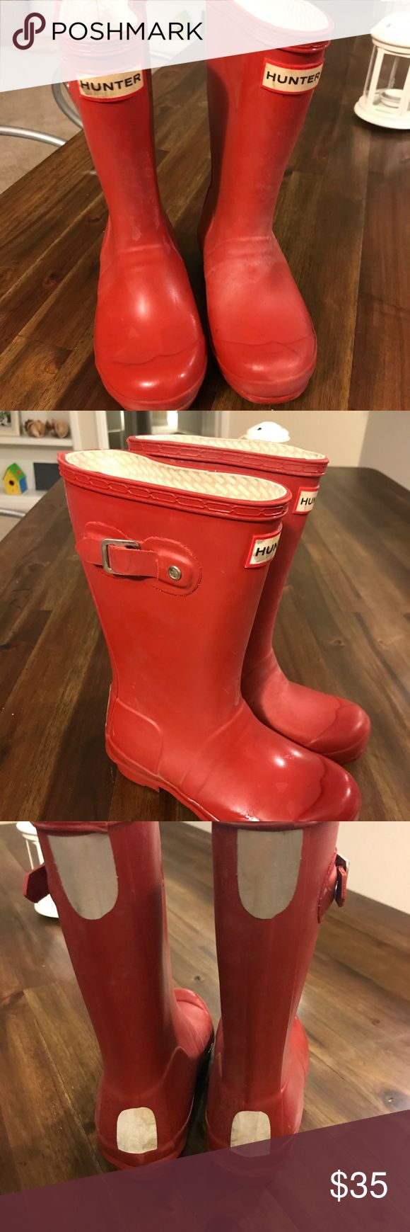 Hunter rain boots red boys size 13 Red hunter boots size 13 boys Hunter Boots Shoes Rain & Snow Boots