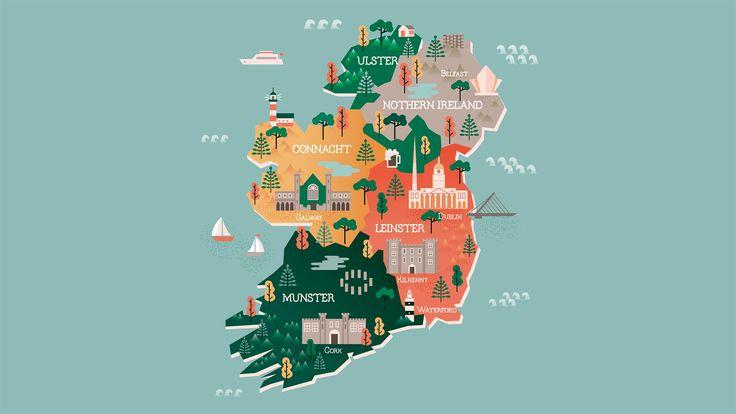 Mapa turístico de Irlanda