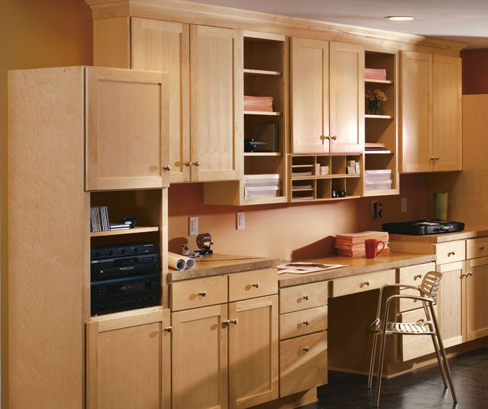 Natural Maple Kitchen Cabinets: Aristokraft Casual Office Cabinets