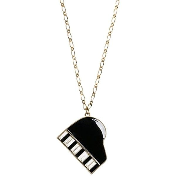 Pre-owned Rare 88 Keys Piano Necklace Nwt Perfect Escape From Piano... ($159) ❤ liked on Polyvore featuring jewelry, accessories, piano, bangle bracelet, kate spade, hinged bracelet, clear crystal jewelry and clear pendant