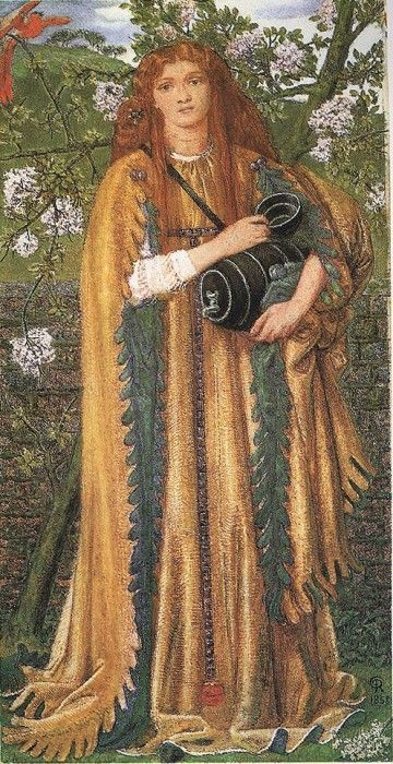 "Dante Gabriel Rossetti, ""Golden Water (Princess Parisade)"", 1858, bodycolor on paper, Fitzwilliam Museum, Cambridge, UK"