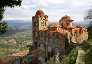 Mystras, Greece. Build with the stones of ancient Sparta