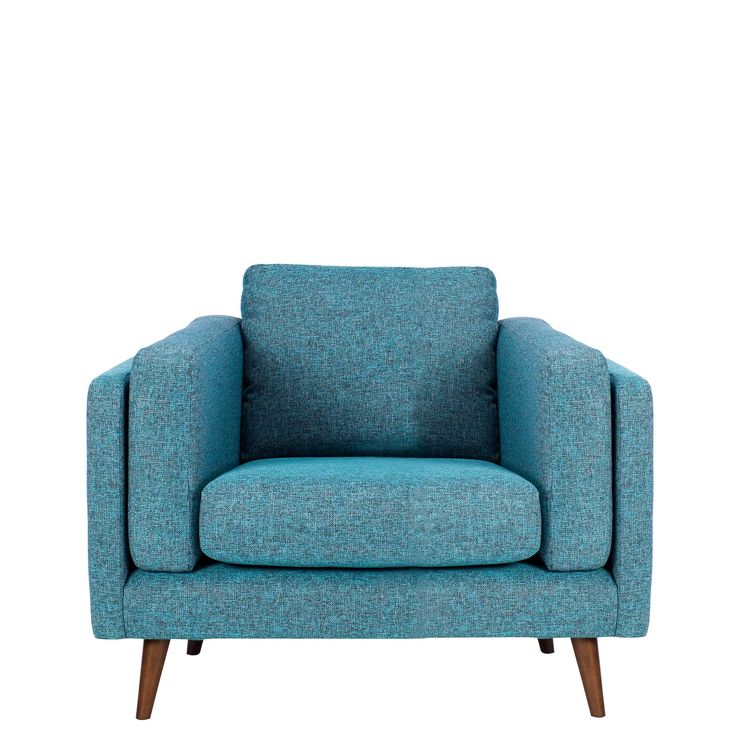 The Juni chair in marine blue will add retro inspired style to your home.