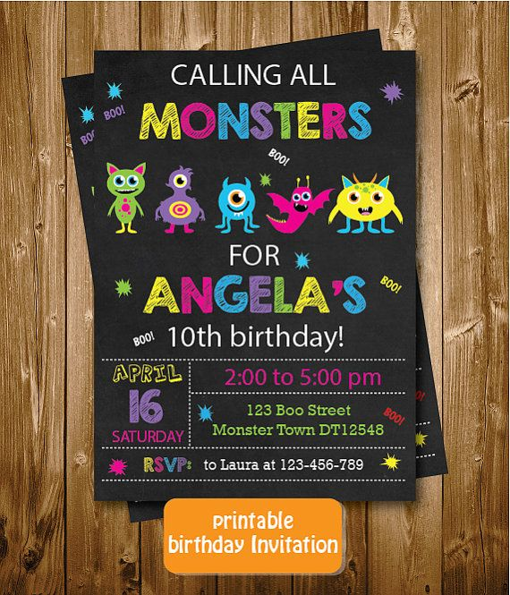 Any Age Monsters Printable Girls 2nd 3rd by RedRedRoseHandmade