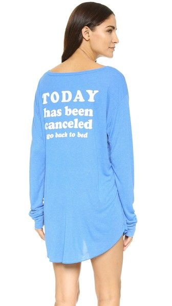 Wildfox Today Is Cancelled Summer Sleep In Shirt   SHOPBOP