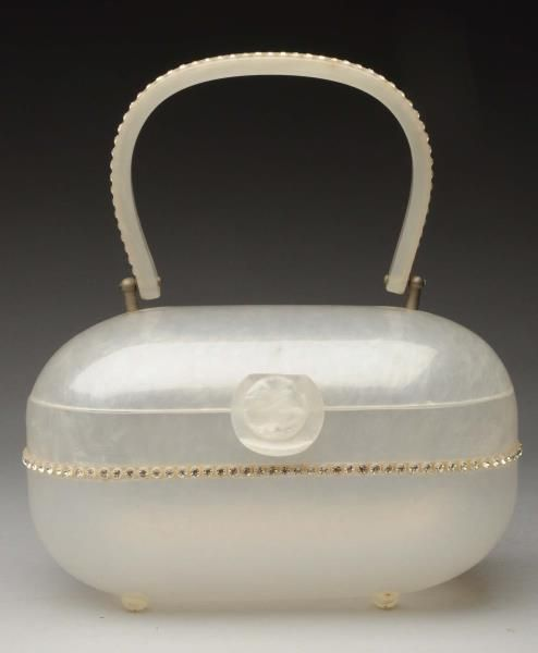 Lot # : 975 - Gilli Round-Shaped Marble Lucite Purse.