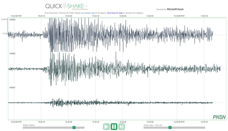 Fan reaction to game-winning touchdown pass registers 'close to a real earthquake' at Hawks game