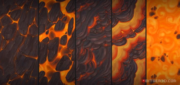 Lava textures - Bitgem, Antonio Neves on ArtStation at https://www.artstation.com/artwork/Wg4rQ?utm_campaign=notify&utm_medium=email&utm_source=notifications_mailer