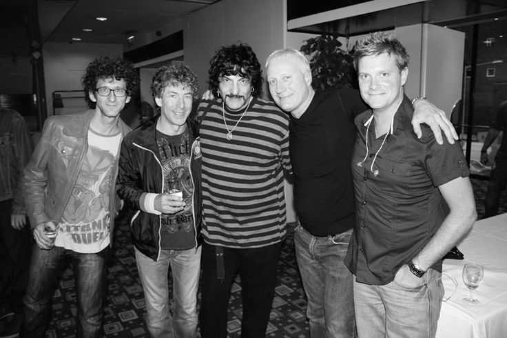From left to right: Jojo Mayer, Simon Phillips, Carmine Appice, Gregg Bissonette and Craig Blundell