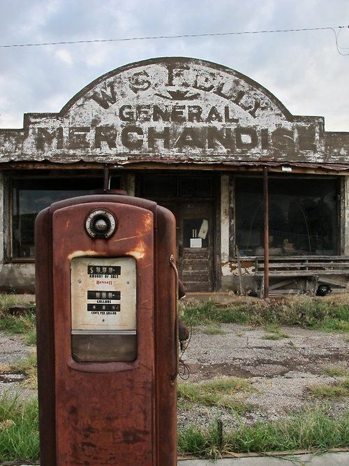 Ghost Town in Cogar, Oklahoma