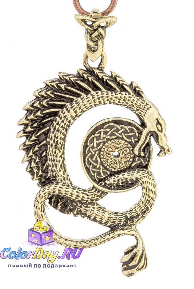 """брелок на ключи """"Китайский Дракон"""" из бронзы купить"""