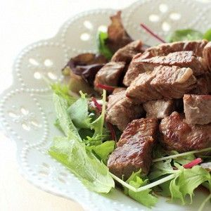 Мини-стейки из говядины  с мирином по-японски