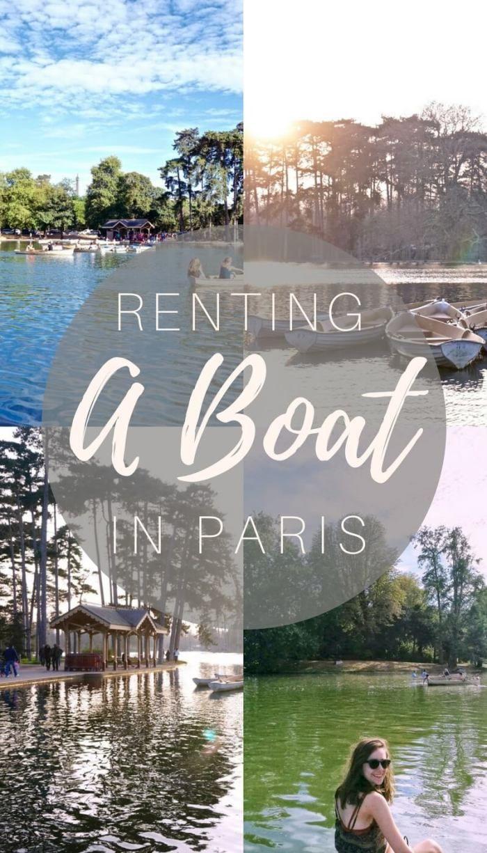 Renting a boat in Bois de Boulogne, Paris, France