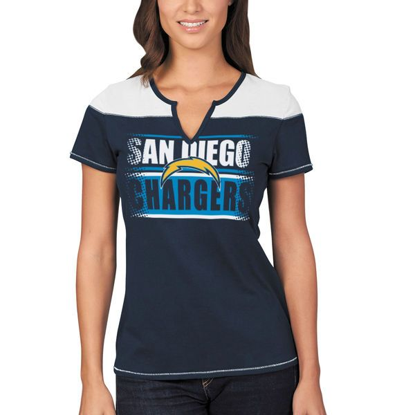 San Diego Chargers Majestic Women's Football Miracle T-Shirt - Navy/Powder Blue - $31.99