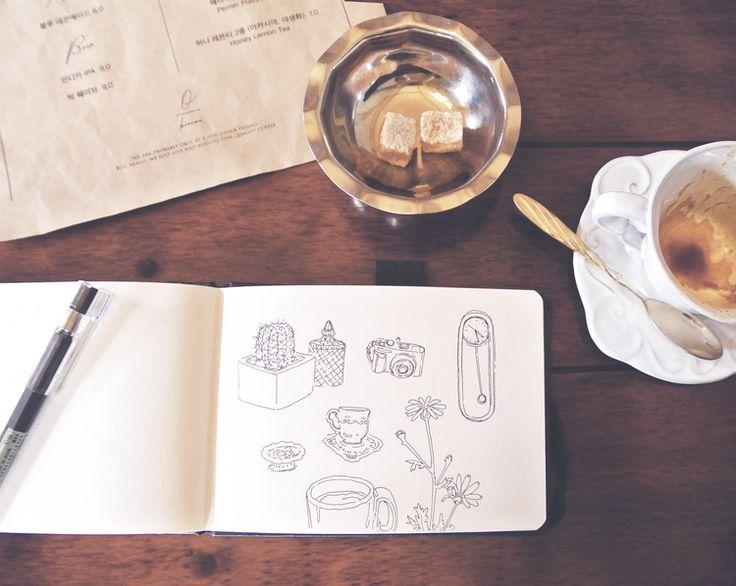Lazy Day on Jeju Island - Seogwipo Coffee Date — evydraws
