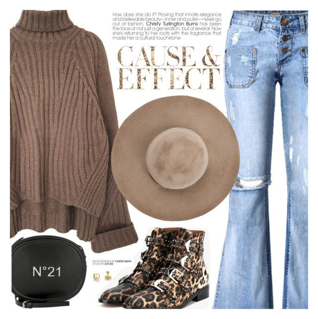 """""""Untitled #119"""" by metisu-fashion ❤ liked on Polyvore featuring Givenchy, Eugenia Kim, Envi: and N°21"""