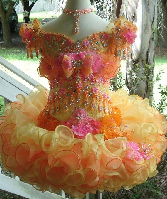 National Glitz Pageant Dress Custom Order by by NanaMarieDesigns, $775.00   My cousin does pageants and she has lots of glitter and dresses but beautiful and a rascal
