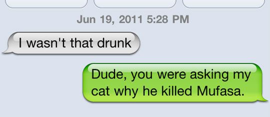 I wasn't that drunk…