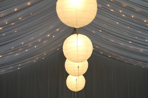 Details of the gorgeous lighting in our Grand Ballroom