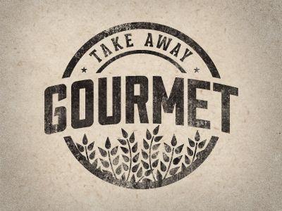 Tak Away Gourmet. Vintage style logo by Justin Barber. http://jstnbrbr.com/