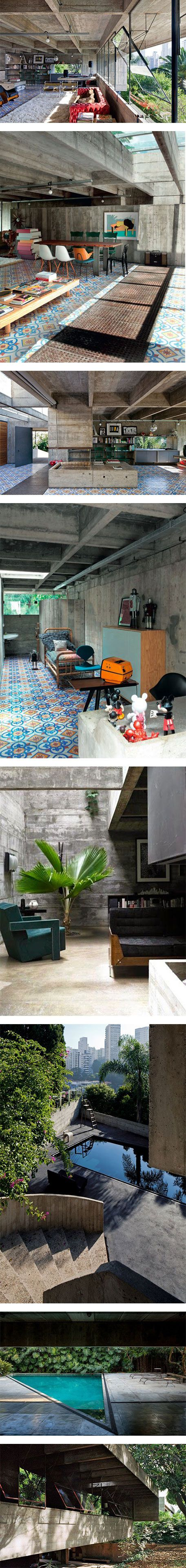 Inside the incredible home of architect Paulo Mendes da Rocha in Brazil on Nuji.com