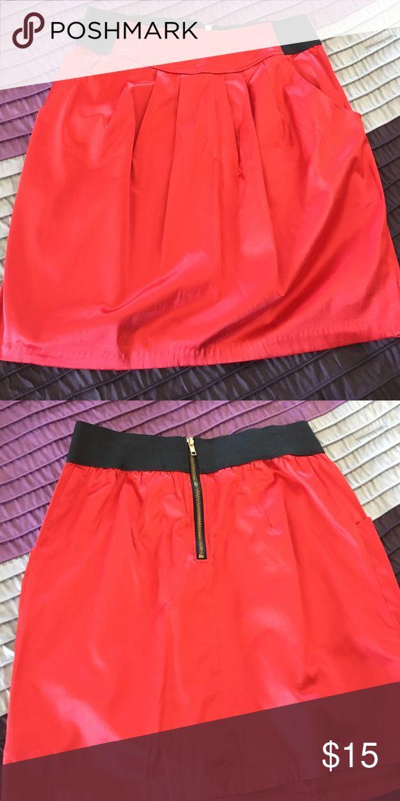Silk skirt Silk high waisted skirt Forever 21 Skirts High Low