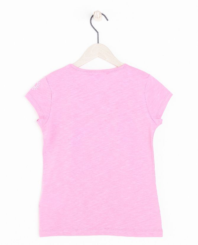 zuurstokroze-t-shirt-met-print-i-am