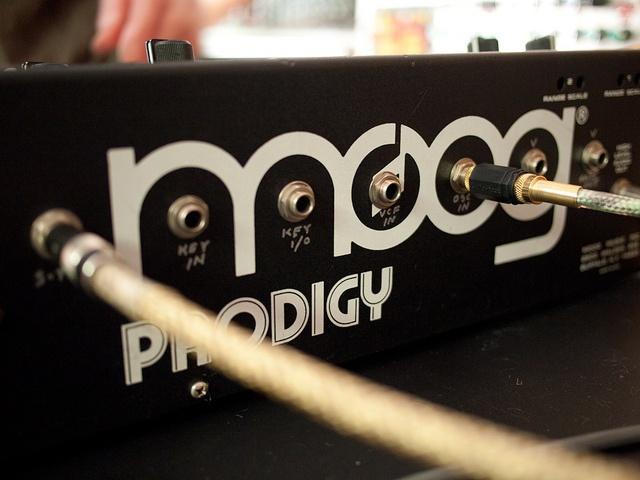 Trevor's customized Moog Prodigy by mabel.sound, via Flickr