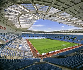 Catch a match or gig at the Ricoh arena - home of the Sky Blues (Coventry City FC)
